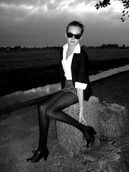 Jeanne H. - Self Made Shorts, Self Made Blazer, Atmosphere Blouse - Black 'n white