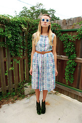 Jamie Matherly - Thrifted Plaid Meets Navajo Dress - Nigel