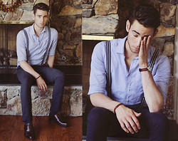 Edward Honaker - Just A Cheap Shirt, H&M Pants, H&M Suspenders, Bostonian Shoes - Tired
