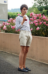 Samuel S. - Asos Loafers, Vintage Navy T Shirt - A hopscotch tear drop, ready to drop