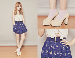 Tricia Gosingtian - Topshop Top, Forever 21 Skirt, Payless Socks, Yhansy Necklace, Forever 21 Ring, Cmg Shoes - 090611