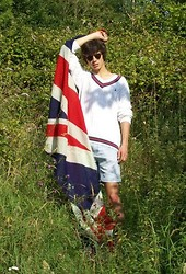 David Smale - Jack Wills Cricket Jumper, My Own Creation Denim Jeans, Asos Clubmaster Sunglasses - What can I say....I love Britain