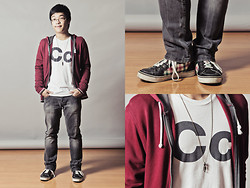 Calel Gosingtian - Topman Jacket, Topman Pants, American Apparel Shirt, Korea Shoes, Korea Necklace - Boy Next Door