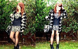 Shirin Gorilla - Asos Cardi, H&M Dress, Wedges, Living Dead Souls Bag - Stay different, stay free