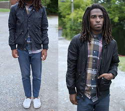 Zachary Gray - Heritage 1981 Jacket, Thrift Store Shirt, H&M Pants (Tailored), Vans Authentics - Monochrome