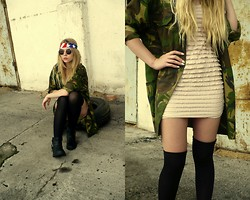 K & M - Sh Shirt, H&M Dress - Military fashion-ache