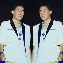 Lorenzo Paolo Garcia - White Blazer, Zara White V Neck, Maldita Diamond Necklace, Camera Necklace, Fossil Monochrome Watch, Khakis - Battle worth fighting