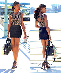 Opal S - Knt Top, Forever 21 Lace Skirt, Aldo Platform Booties - I wanna dance with Somebody