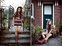 Bethany Olson - Forever 21 Feather Necklace, Thrift Store Cowboy Boots - Lovely Afternoon
