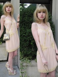 FashionSheSays XX - Kimchi Blue Dress, Vintage Jewelry, Vintage Bag, Valentino Espadrilles - Pinky