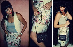 Barbara A - L'etage Lace Vest, Antix High Waisted Skirt - The girls are XOXO-llent with The Retro!
