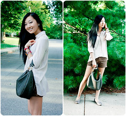 Yitong Wang - Michele Watch, Gucci Purse, Sam Edelman Flats - Cape Lady