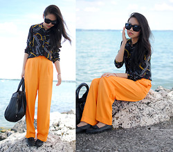 Meijia S - Zara Chain Shirt, Orange Pants - Will & me
