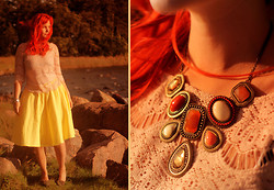 Maya O. - Friend Made It Yellow Full Circle Skirt - Saving jellyfishes