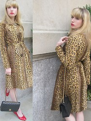 FashionSheSays XX - Milly 'Bianca' Trench, Vintage Ring, Chanel '2.55' Bag, Chanel Shoes - Cheetah Chic