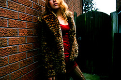 Laura Anne - Marks&Spencers Velvet Red Mini Dress, Leopard Coat - In the  middle