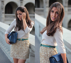 Gabriela - Fernandes - Zara Belt, Zara Blue Bag - Bonjour paris