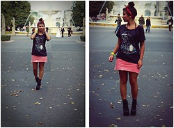 Kasia J. - Levi's® Tee, Levi's® Skirt, Jeffrey Campbell Wedges, Mum's Old Necklace - Junk of the heart