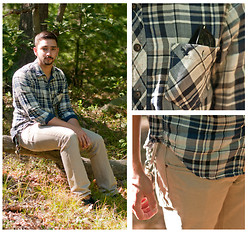 Nick S. - American Eagle Flannel, Freeworld Khakis, Vans - Blue Valentine