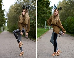 We Inspire Us . - Esprit Corck Heel Shoes, Hand Made Lace Bunny Ears Diy - Autumn Bunny