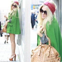 Anna Wiklund - Apple Green Cape, Headband, Vegan Friendly Bag, Boheme Ring - I'LL BE YOUR BABY TONIGHT