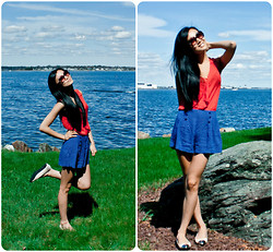 Yitong Wang - Marc By Jacobs Sunnies, H&M Blouse, H&M Shorts - Happy Sailor