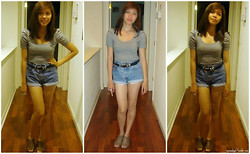 Cyress Cervantes - H&M Bestfriends Top, Forever 21 Shoes, Thrifted Hw Shorts - Black&white