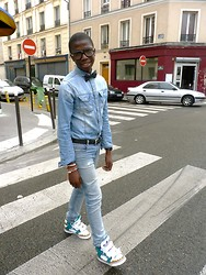 Vass D - Asos Bow Tie, Zara Shirt, Cheap Monday Jean, Adidas Js Bones Sneakers - Buz...in