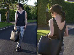 Becky May - Alexander Wang Vest, 6026 Collection Jeans, Zara Bag - Zipped