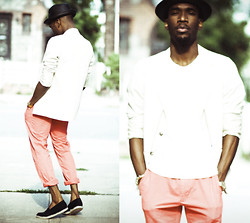 Mougabe Saint Louis - Uniqlo Opposite White Trillby, Polo Ralph Lauren Whipped Cream Blazer, Club Monaco Candy Coated Chinos, Topman Coal Espadrilles - Nino Cappuccino