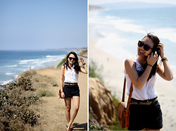 Stephanie N. - J. Crew Belt, A.J. Morgan Sunnies - White Waves That Crash Before Us