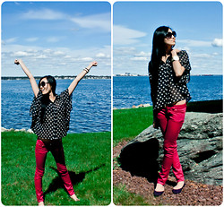 Yitong Wang - Betsey Johnson Watch, Mttm Skinnies, Chloé Sunnies - Miss Polka Dots