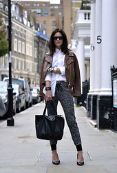 Hedvig ... - Cos Shirt, 3.1 Phillip Lim Pants, Cos Shoes, Acne Studios Jacket, Céline Bag, Tagheuer Watch - On track