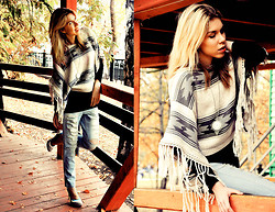 Liza S. - New Look Jeans, Topshop Poncho - In Search Of Sunrise