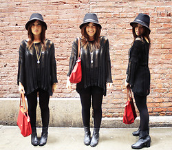 ALI B. - Brandy Melville Usa Sweater Top, H&M Black Boots, Urban Outfitters Hat - Feeling good!