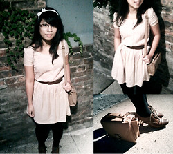 Soukprida P. - Aldo Lace Up Oxford Heels, H&M Dress, H&M Belt - 001: Night at The Owl
