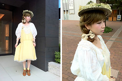 Etsuna Otsuka - Vintage Hat, Ca4la, Vintage Blouse, Nesessaire, Miu - Pregnancy Diary -- baby:26 week 04 day