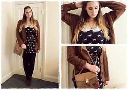 Ines J - Primark Dress, Primark Bag, H&M Lace Ups, New Look Cardigan - Little Plastic Horses