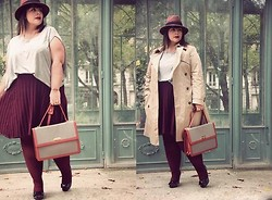 Stephanie - BigBeauty Zwicky - My Suelly Handbag, H&M Trench, Asos Skirt, Cos Tee Shirt, Minelli Open Toe, New Look Hat - + Inspecteur Vinasse +