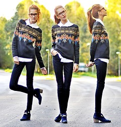 Ebba Zingmark - Sweater, Joe Who Shoes, Proopticals Glasses - NEED NO REASON