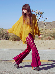 Wild At Heart - Everly Sheer Blouse, Jeffrey Campbell Litas, Velvet And Lace Flares - She keeps on passing me by