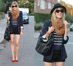 Sofie V. - Lola Cruz, Prada Bag, Jil Sander, H&M Scarf - Red pony shoes and a hat