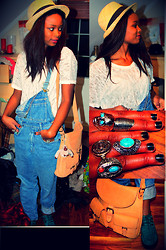 "Sarah B. - Carlings Shirts, Fretex Pants, Vintage Rings, Citybag Brown Bags, H&M Shoes, H&M Hats - This's ""it"" girl ?!?"