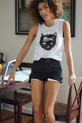 Christina Caradona - Topshop Meow Top, American Apparel Shorts - 10-01