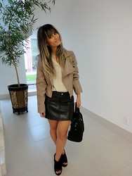 Lih Florencio -  - Leather Skirt