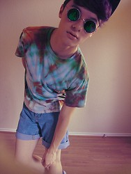 Johnathan Andru - Heaven W.W.J.D Shades, D.I.Y Tye Dye, Shorts, Uo Basic Canvas Shoes - ★ ☽ GHETTO ASS WITCH ☾ ★