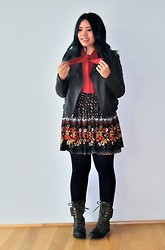 Andi D - Asos Sweater, Urban Outfitters Jacket, Vero Moda Skirt, Jeffrey Campbell Boots - Capricious