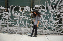 Gabby Jorio - Sam Edelman Booties, American Apparel Riding Pants - Tell me about it, stud