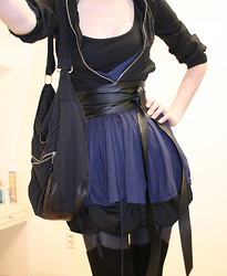 Kris * - New Look Short Jacket, Roma Top, H&M Poofy Skirt, Bag, Leather Belt, H&M Suspenders - Oh yeah I forgot the Girl part.