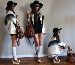 E V - Zara Lace Shorts, H&M Bag, Second Hand Scarf - WHO S▲ID THREE IS ▲ CROWD